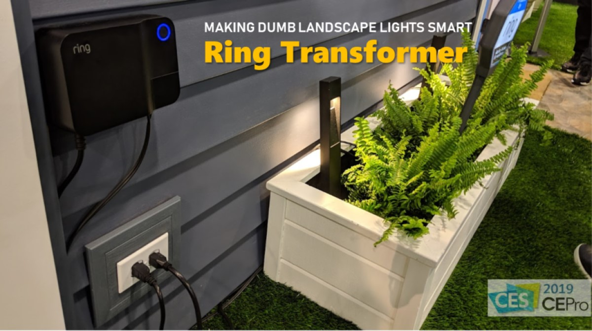 Dumb Old Low Voltage Landscape Lights New Ring Transformer Makes Them Smart Ce Pro