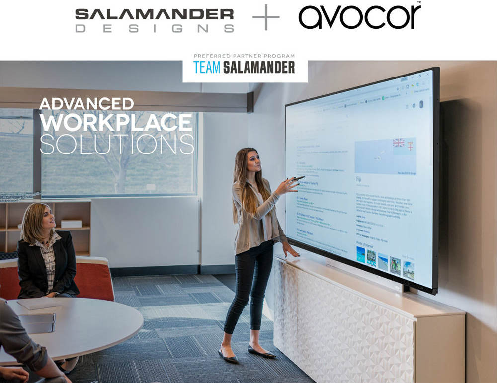 Salamander Designs and Avocor Team Up to Deliver Commercial Presentation Solution