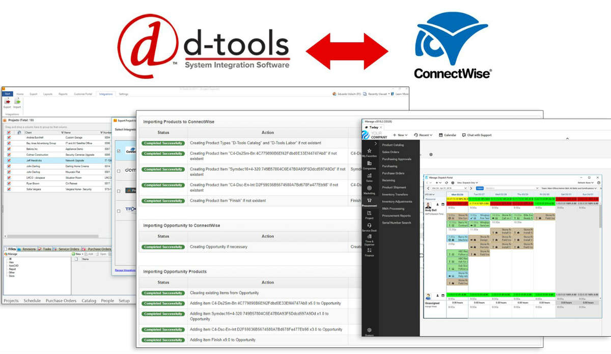 ConnectWise and D-Tools Launch Combined Workflow Optimization Platform