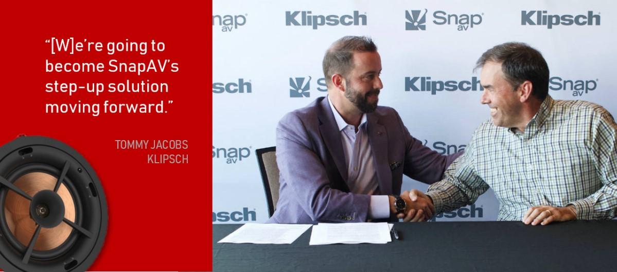 Klipsch Names SnapAV Exclusive National Distributor for Custom CI Speaker Line