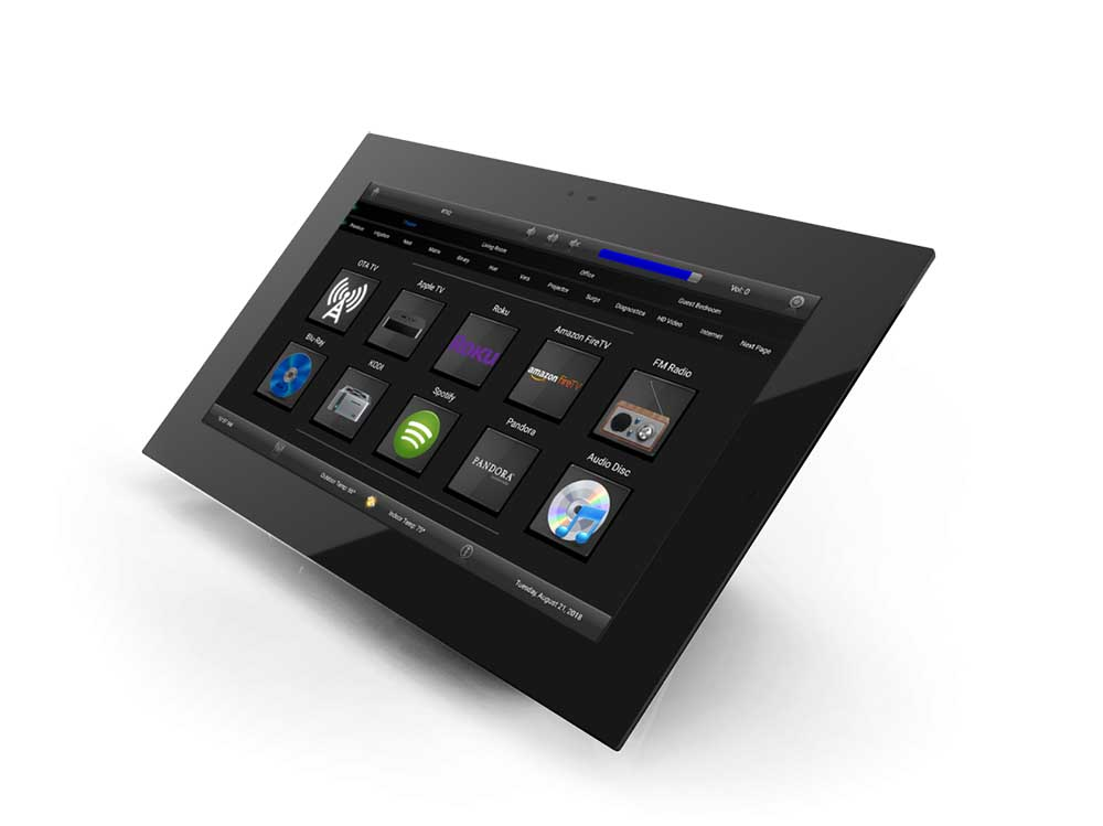 Rti Touchpanel Remotes Mount In Walls Reside On Tables
