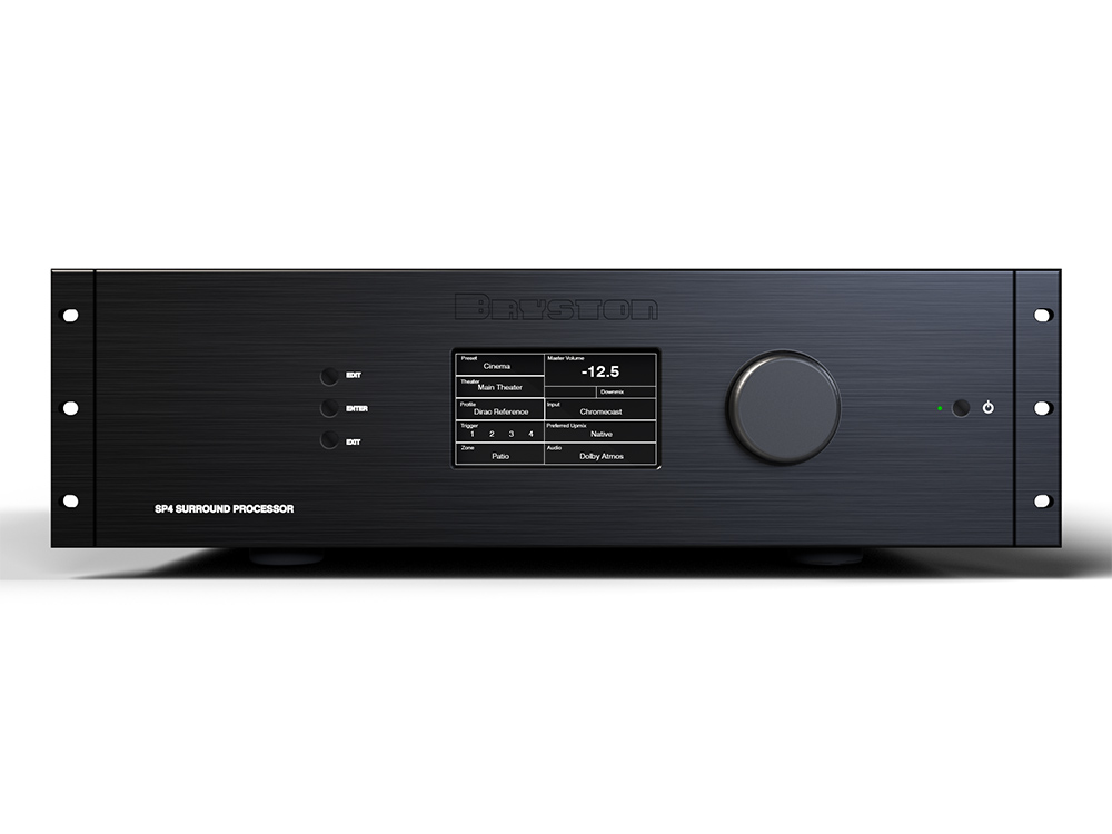 Fit for Post Production Applications, Bryston SP4 Cinema Processor Delivers Immersive Audio