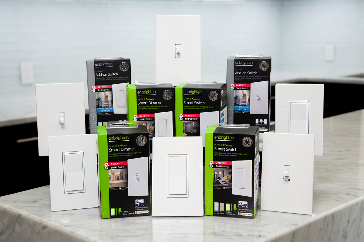 New GE-Brand Z-Wave Smart Light Switches Available in Five Styles
