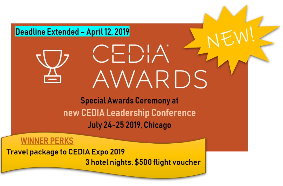 0e24f6d82ca02 New CEDIA Awards Celebration   Leadership Conference Launches - CE Pro