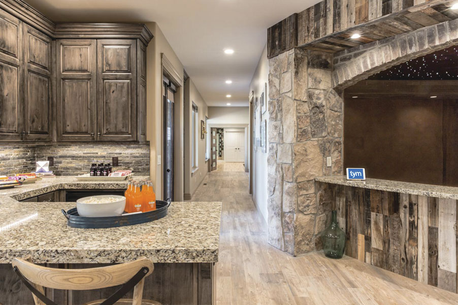 Mine Shaft Themed Home Theater Pays Homage to Homeowner's Industrial Roots