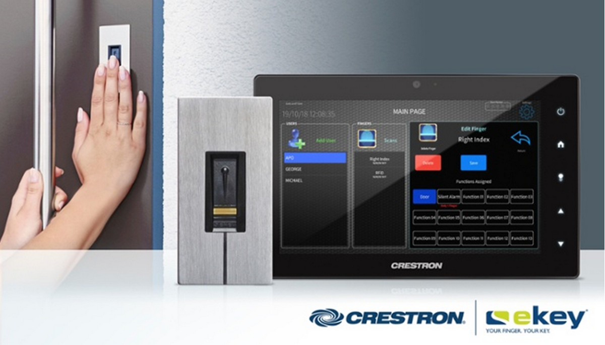 Crestron Offers Biometric Door Entry for Smart Homes via ekey Fingerprint Readers