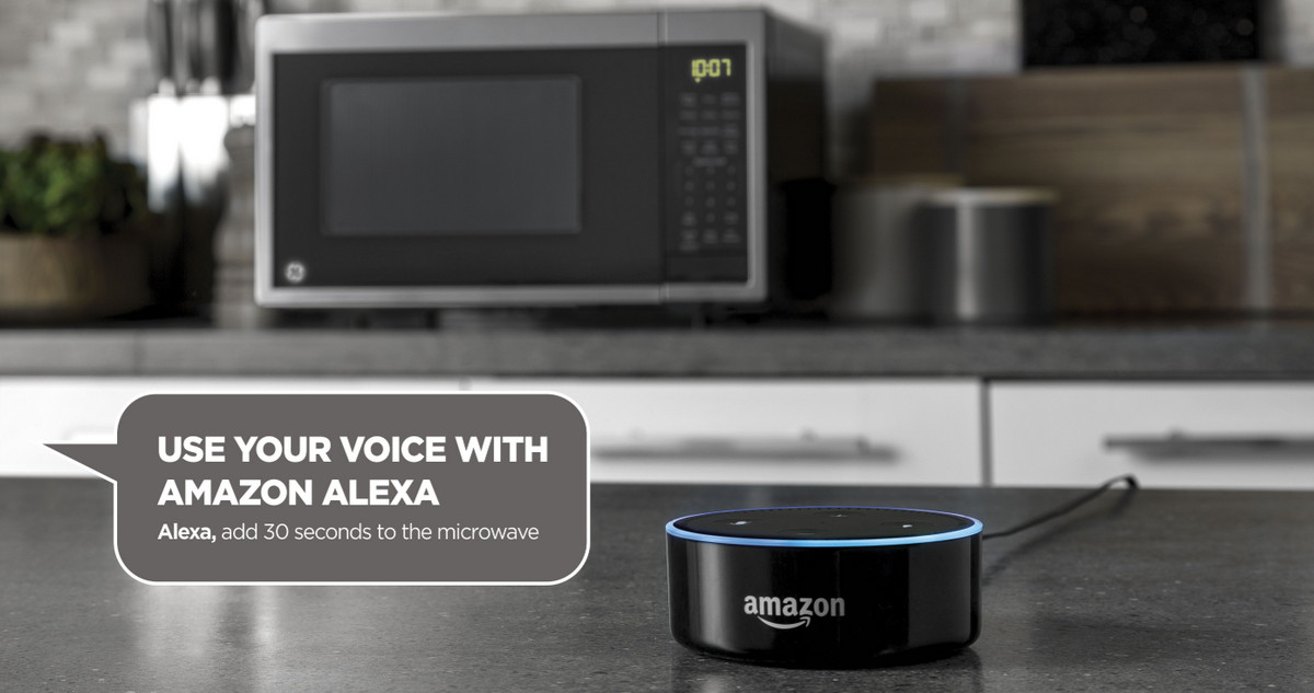 $155 DEAL - GE's New Smart Microwave with Scan-to-Cook, Alexa Voice Control