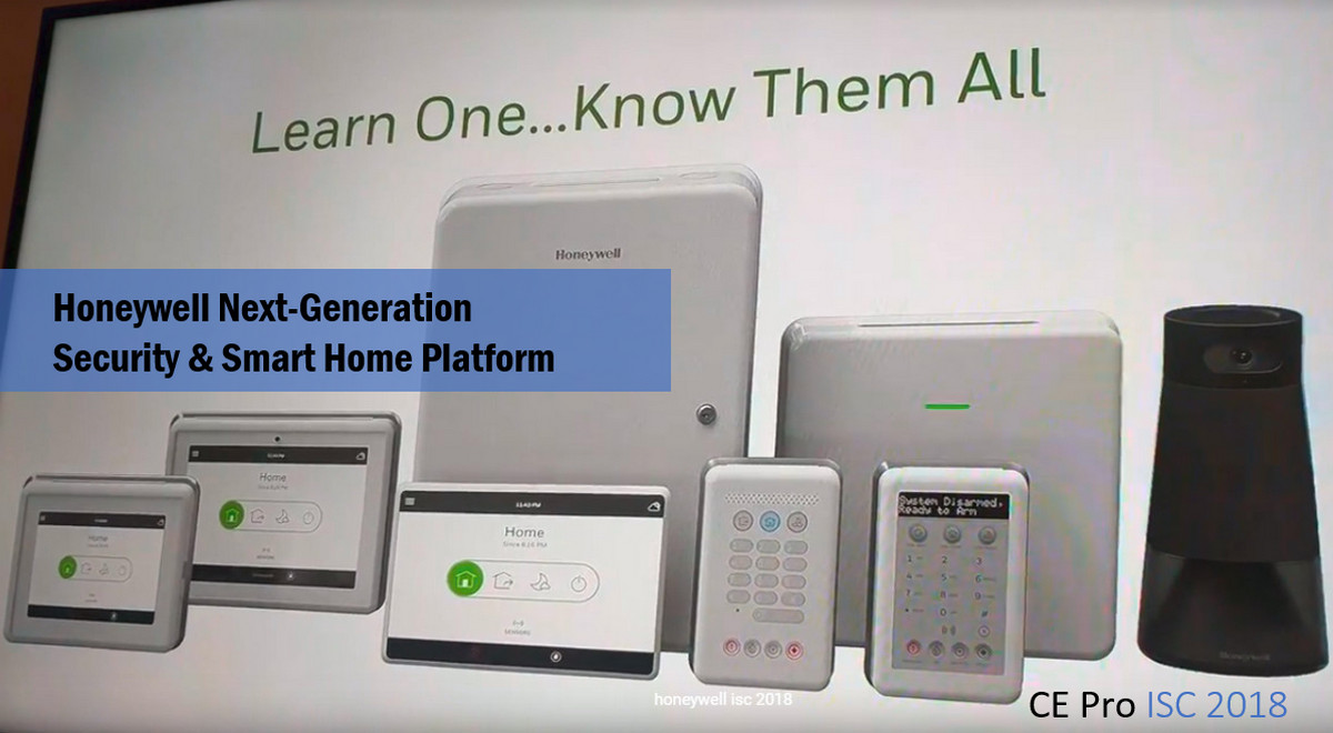 Honeywell 2019: Next-Gen Security & Home Automation is One Platform for Wired, Wireless, DIY, Pro