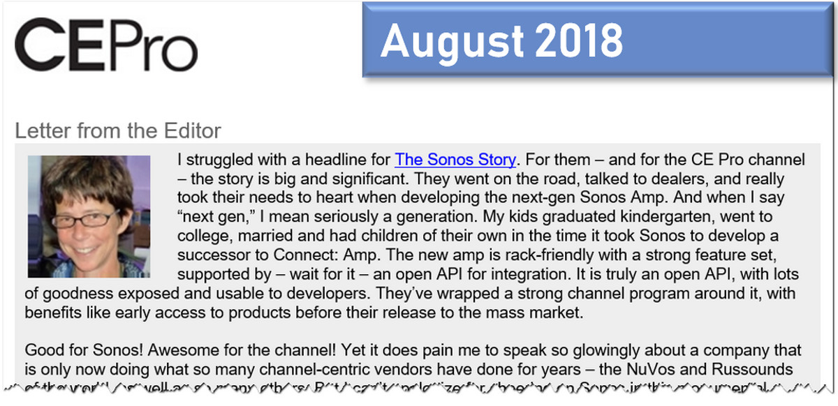 JJ Opines, August 2018: Struggling with Sonos, Genius of Sony, Charlie Kindel