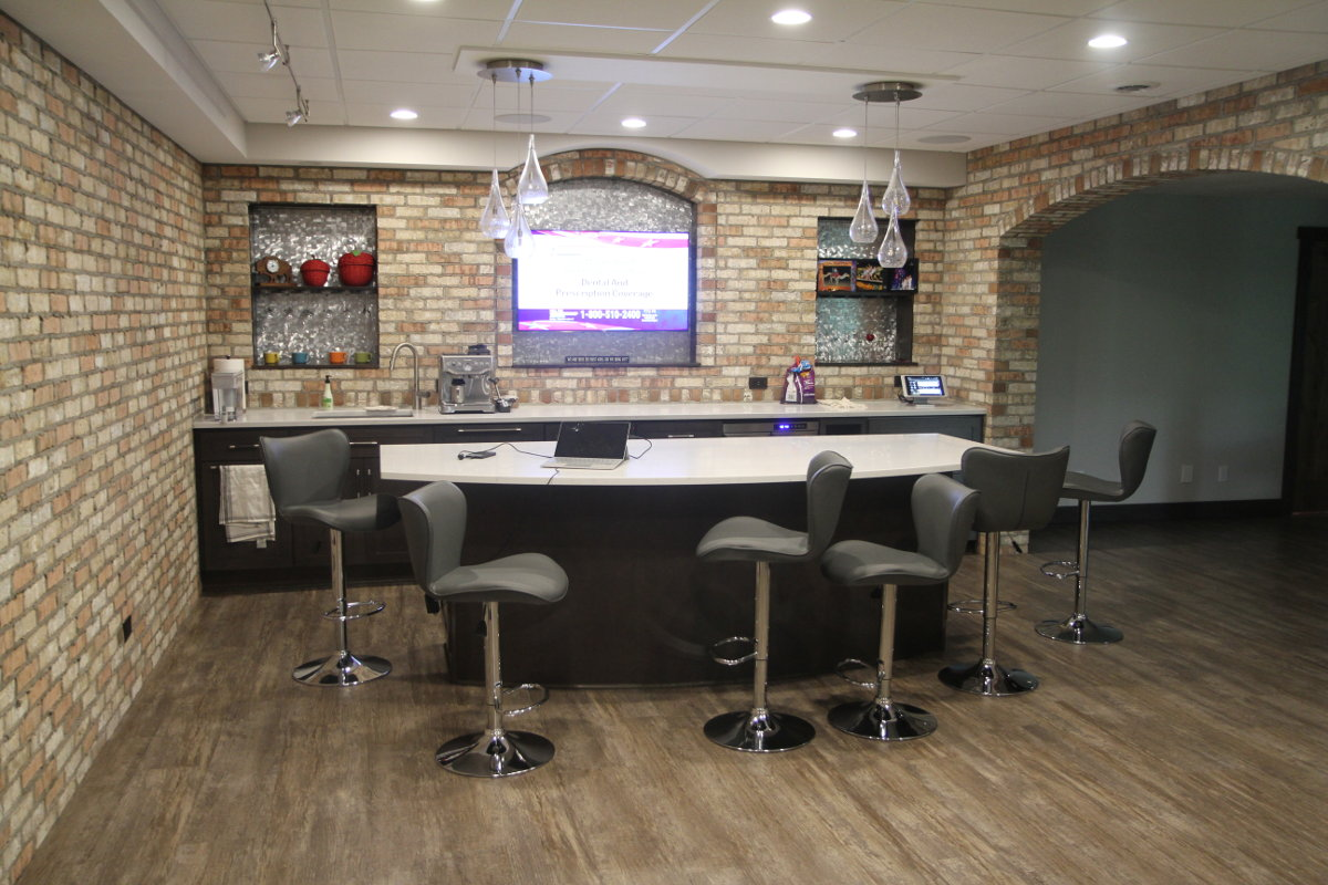Phase 2 Of Basement Renovation Integrates Multiroom A/V And Home Theater  Controlled By RTI