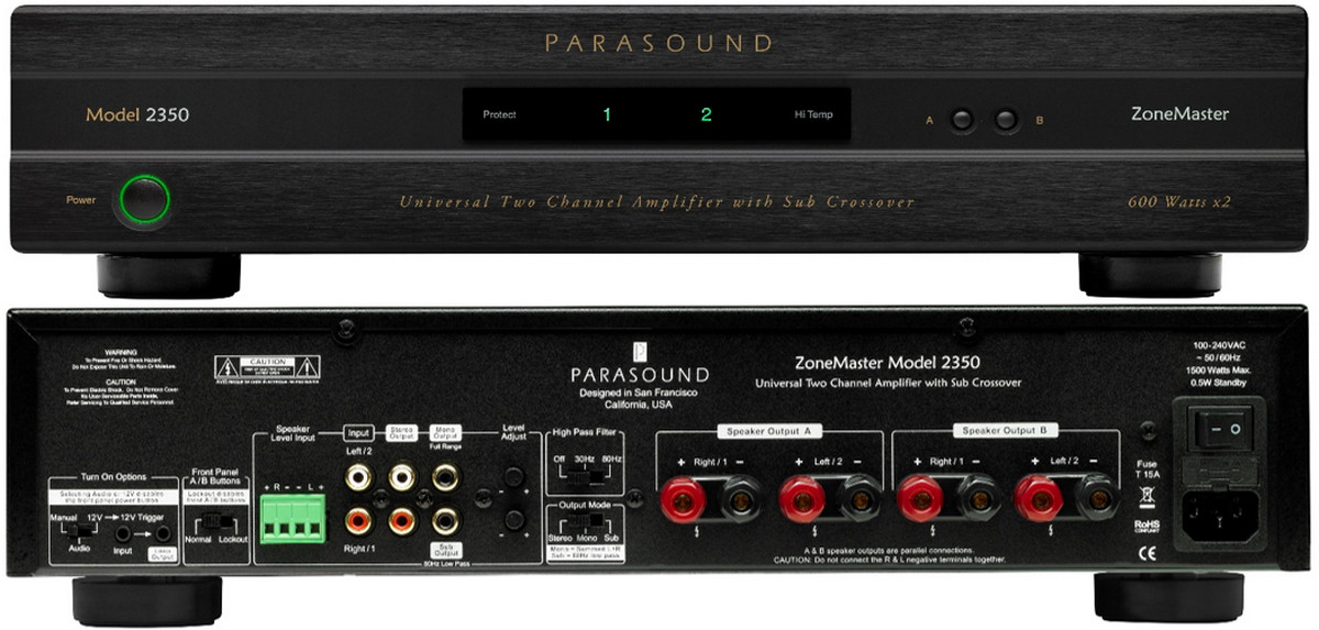 Parasound ZoneMaster 2350 Class D Amp Blends Best of Digital and Analog Audio