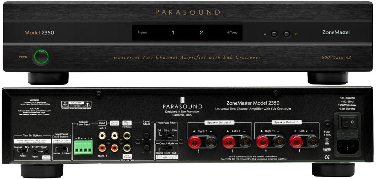 Parasound ZoneMaster 2350 Class D Amp Blends Best of Digital and