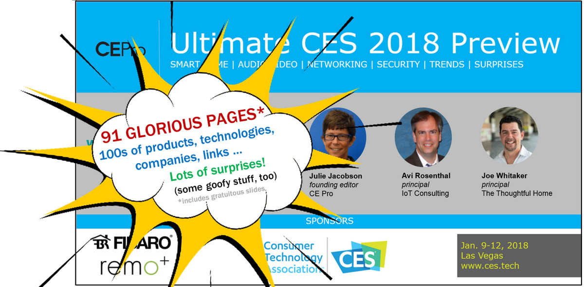 Slideshare: Julie Jacobson's Ultimate CES 2018 Preview - 91 Pages of Smart Home