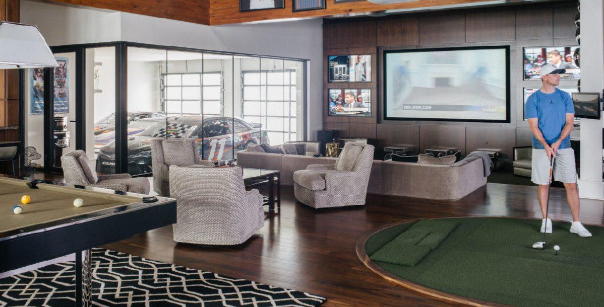 Inside a NASCAR Driver's Big Smart Home: Bowling, Basketball, and Beyond