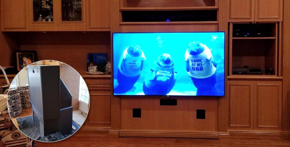 How a 'Custom' Integrator Hangs a TV
