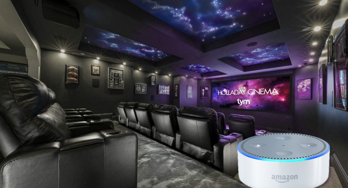 Winning Home Theater Features Star Ceiling Made with 7 Miles of Fiber
