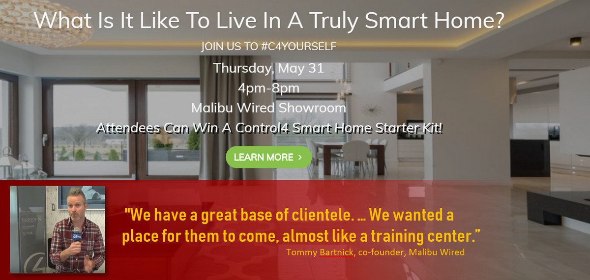 Today is #C4Yourself Day: Malibu Wired Preps for Control4 Showroom Soiree
