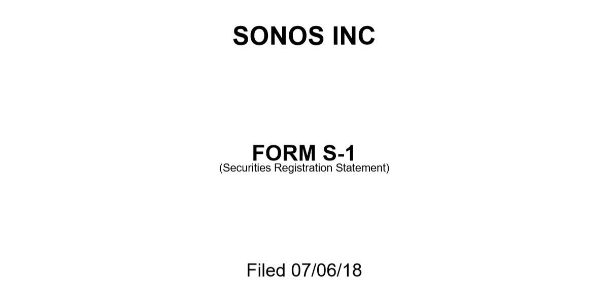 Sonos Files $100 Million IPO; Plans More Direct-to-Consumer Sales