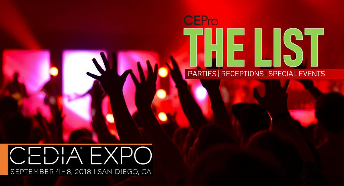 The List: CEDIA 2018 Parties, Receptions, Special Events – UPDATED AGAIN