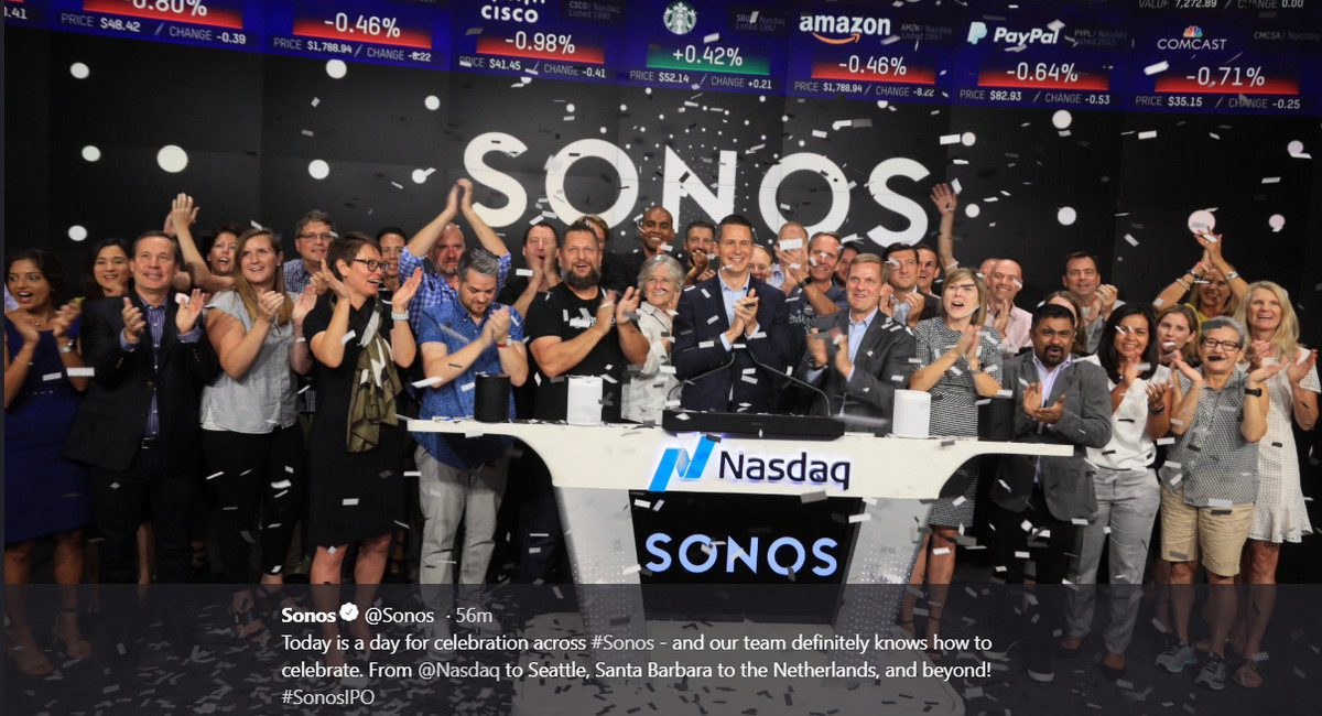 Sonos IPO Day: Why SONO is More than a Boring Hardware Play