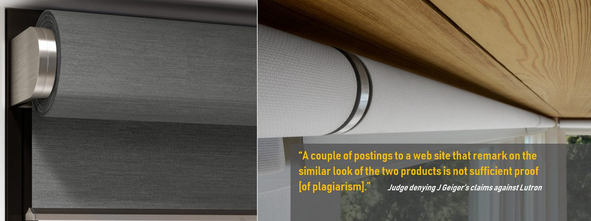 J. Geiger 'Utterly Failed' on Infringement Claims Against Lutron's Palladiom Motorized Shades
