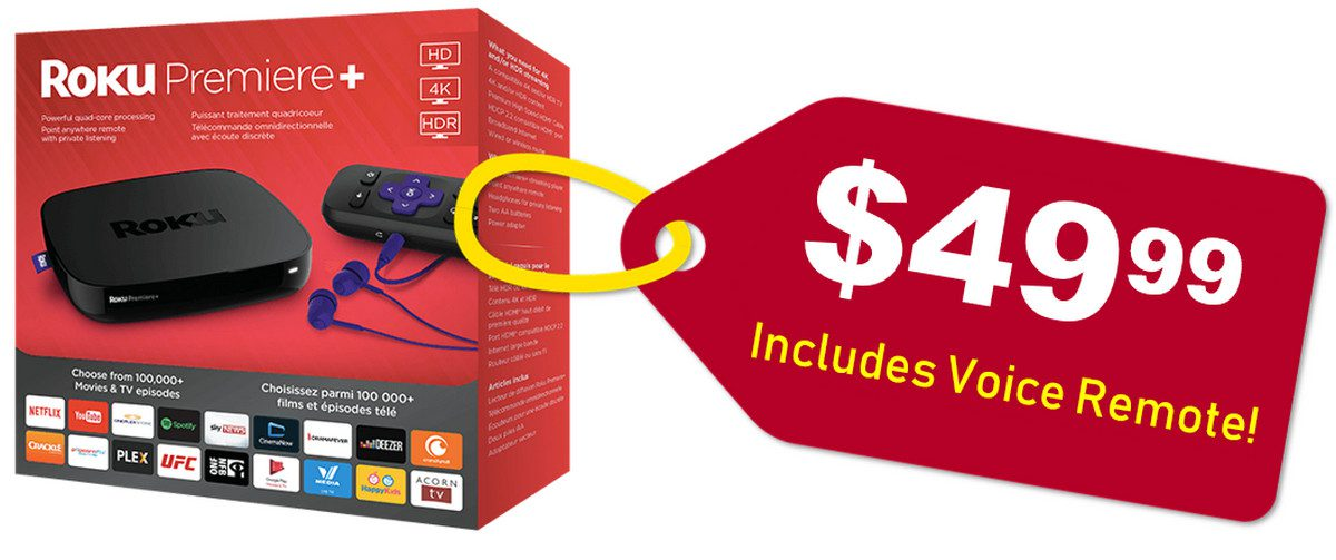 Roku's Cheapest Streamers Ever – 4K Roku Premiere and Premiere+ with Voice Remote Start at $39