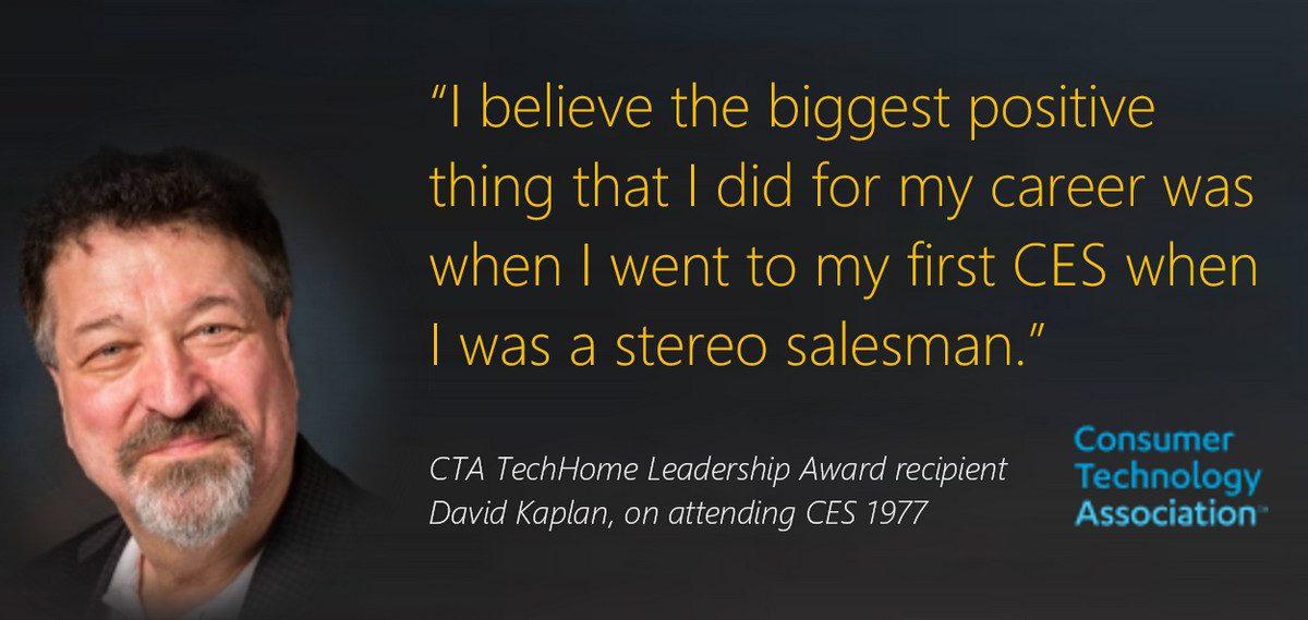 CTA Award Winner David Kaplan Advises Industry to 'Show Up'