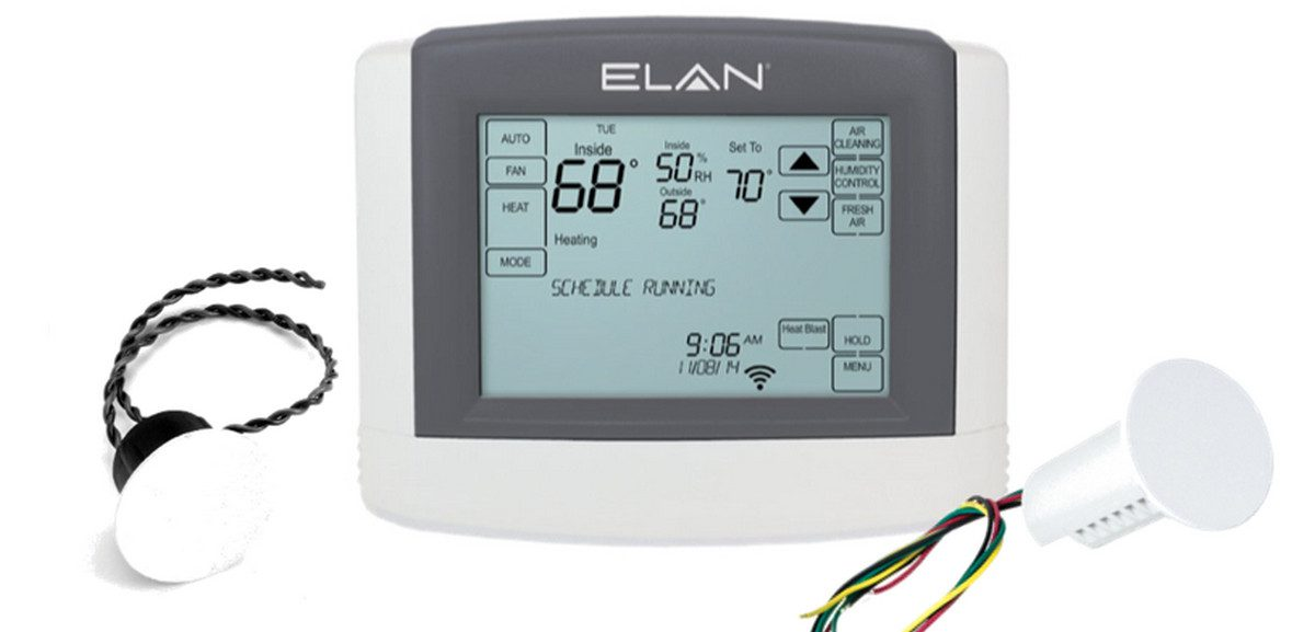 Elan Adds Remote Temperature Sensors to Smart-Thermostat Line