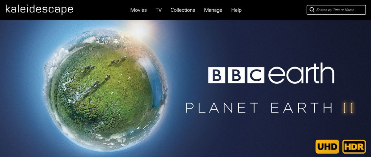 Kaleidescape Offers Best of BBC through 4K Video Store