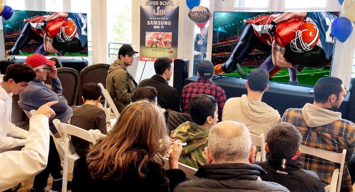 Samsung 8K TVs Highlight Elite Clientele Super Bowl Watch Party