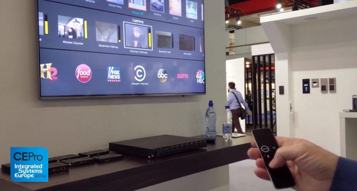 Savant Shows Home Automation OSD through Apple TV