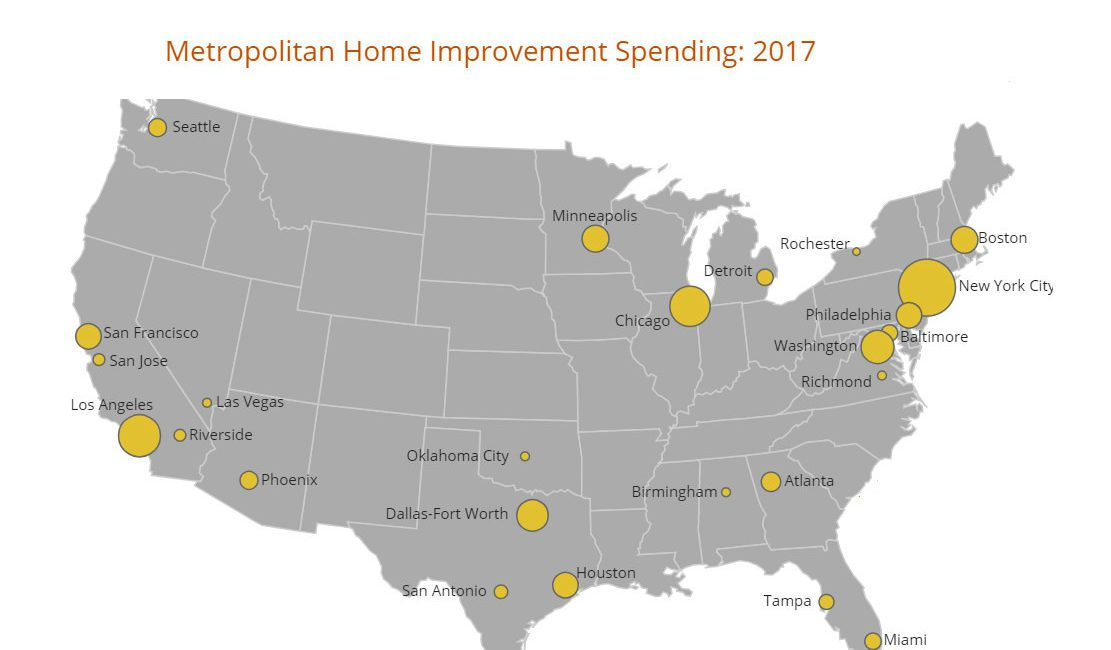 Report: As Homebuilding Lags in the US, Remodeling Up 50%