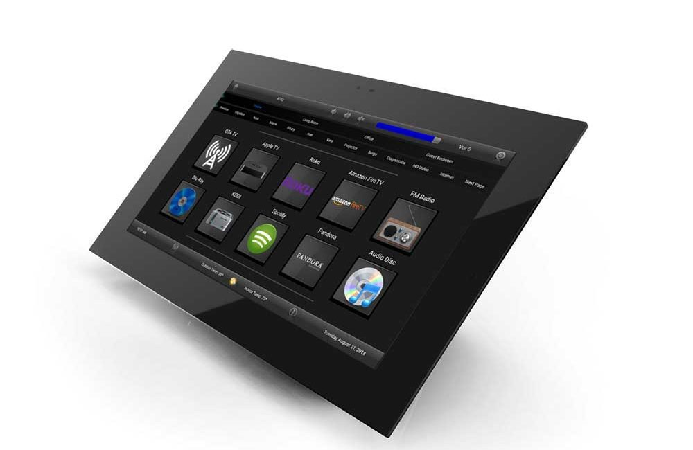 RTI Touchpanel Remotes Mount in Walls, Reside on Tables