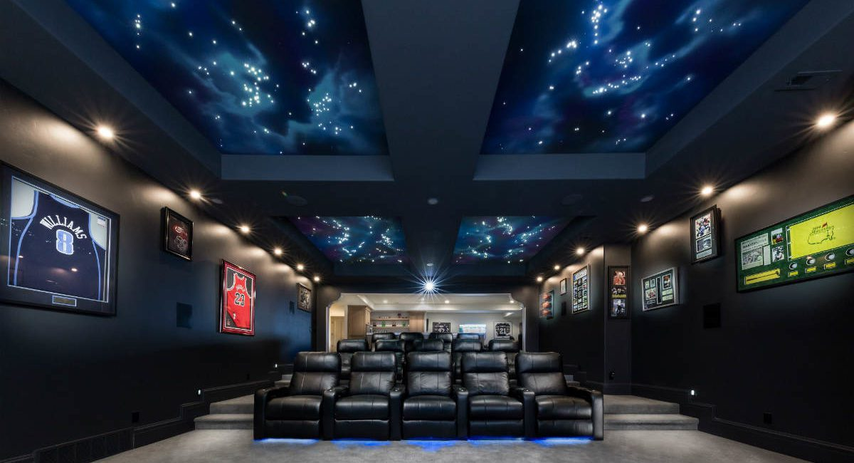 Home Theater Features Star Ceiling