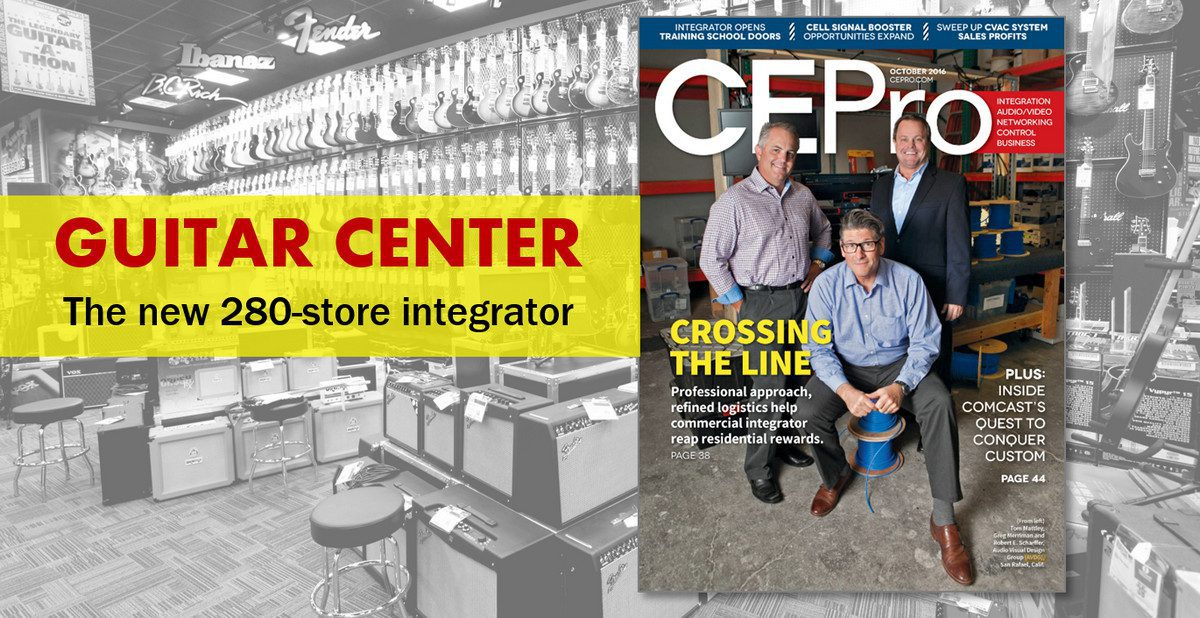 The Next Big Crestron Dealer is … Guitar Center via AVDG Acquisition