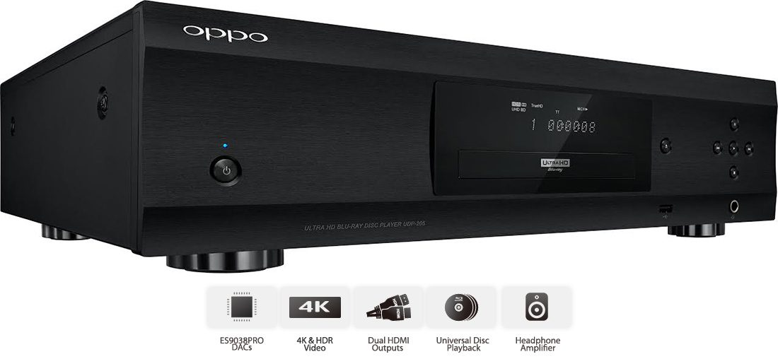 Oppo Digital Releases UDP-205 4K Ultra HD HDR Blu-ray Disc Player