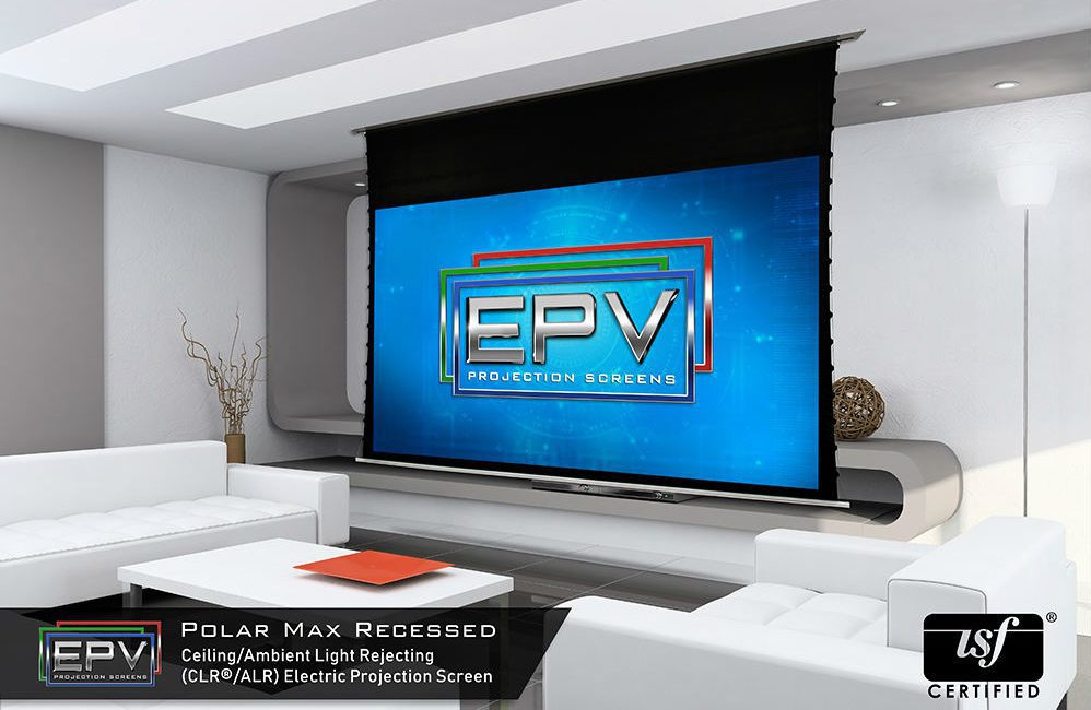 EPV Screens New PolarMax Aerie Tension Screen Hides When Not in Use