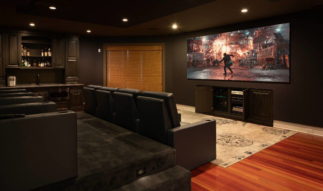 New Jersey Integrator Turns Boring Basement Into Beautiful Home Cinema