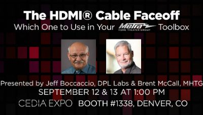Metra Home Theater Hosts 'The HDMI Cable Face-off' Workshop at CEDIA Expo 2019