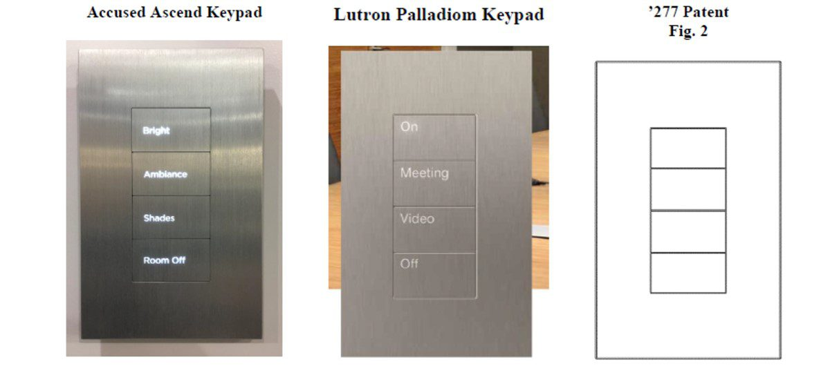 Lutron Sues Savant Over Alleged Patent Infringement on 4-Button Keypad