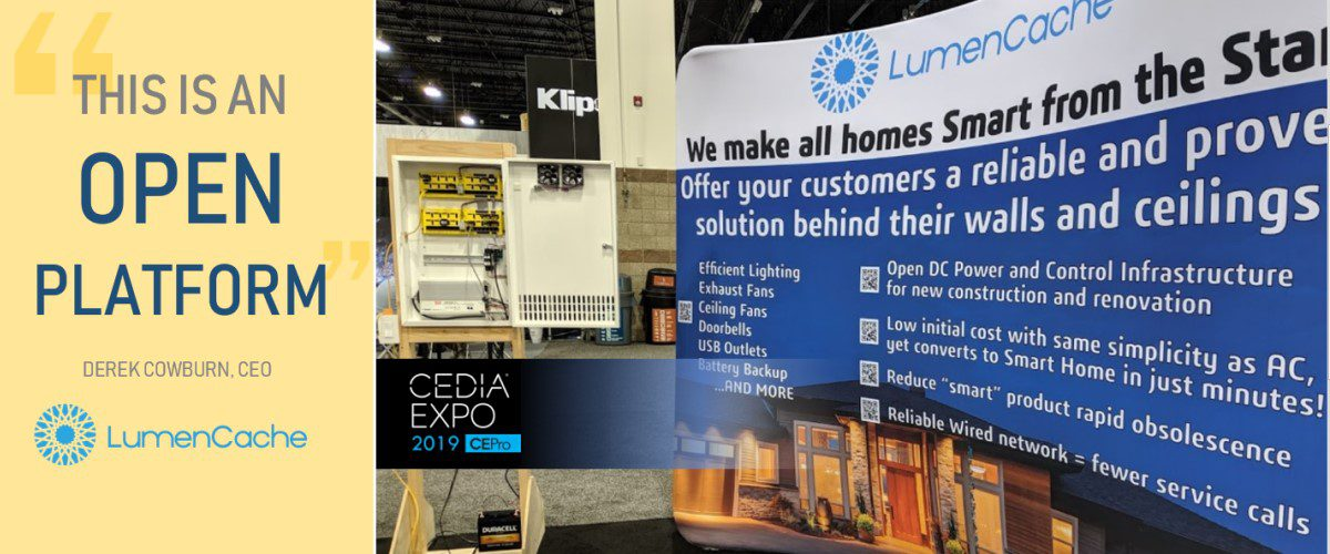 LumenCache at CEDIA: End-to-End Low-Voltage Lighting, DC Power