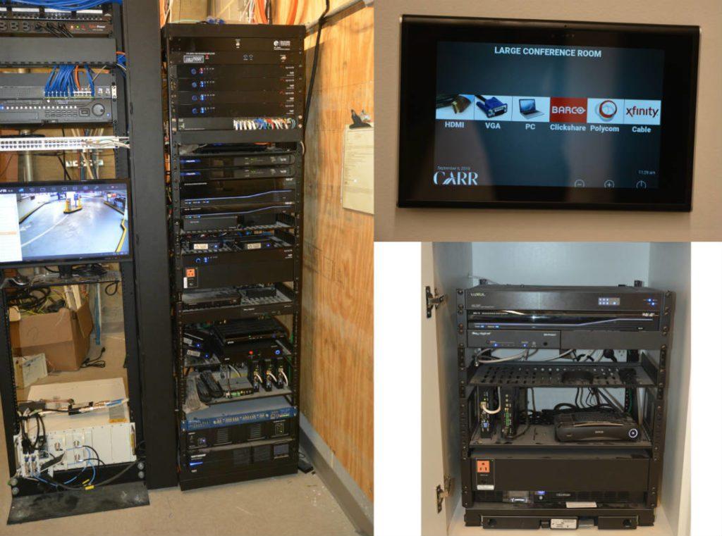 Nard's The Hub URC racks touchscreen