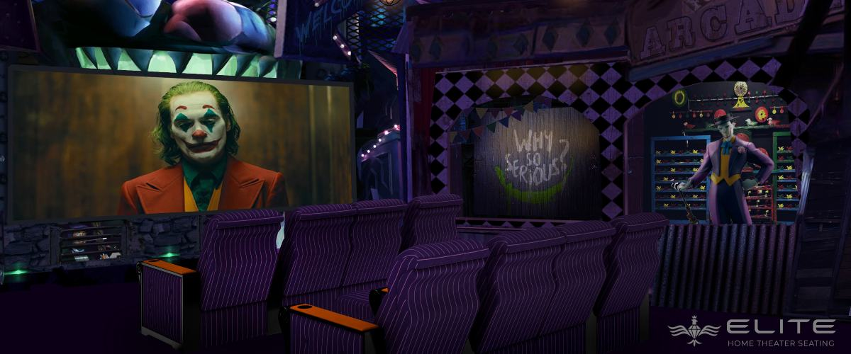 $1.5M Joker Home Theater Features Roller Coaster Entrance