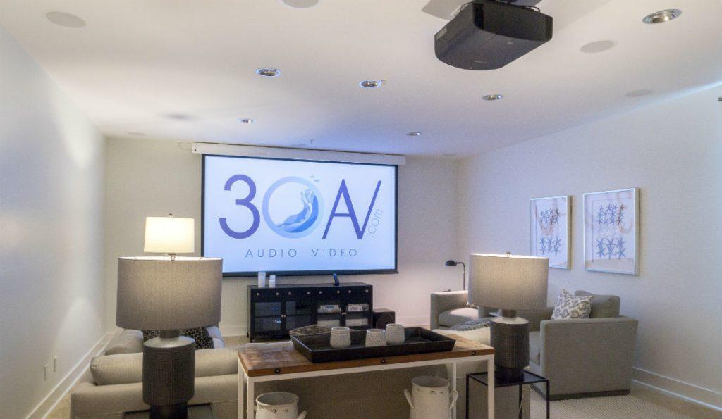 30AV Sony projector Dragonfly screen