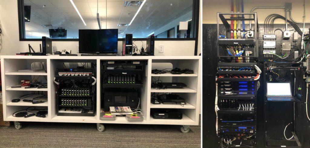 Total Connect NBA Digital URC AV racks