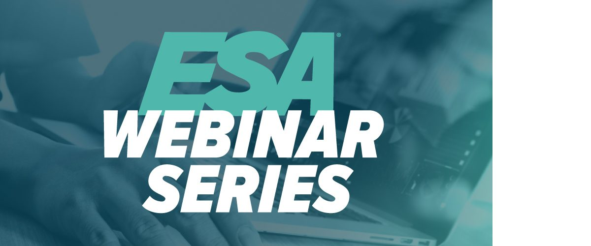 ESA Webinar to Address Identifying Risk in 2020