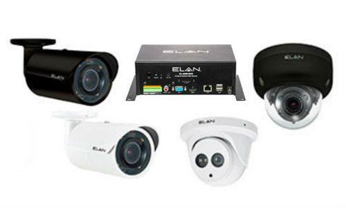 Elan outdoor IP cameras NVR