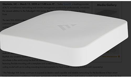 Pakedge WA-4200 Wireless Access Point