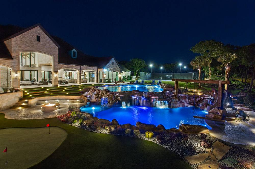 Elite AV backyard project night