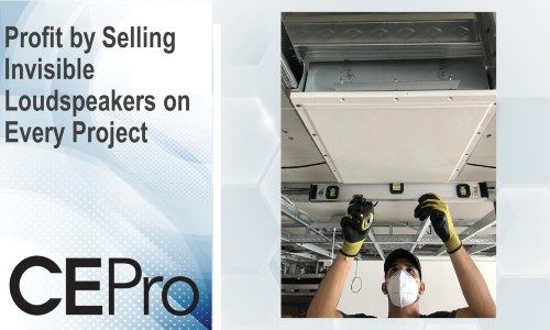 Benefit from installing invisible speakers in any project